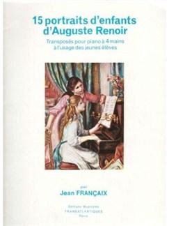Jean Francaix: Quinze Portraits D'Enfants, D'Auguste Renoir Livre | Piano Duo