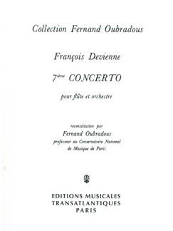 François Devienne: 7Ème Concerto Books | Flute, Piano Accompaniment