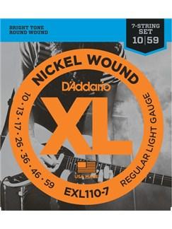 D'Addario: EXL110-7 Nickel Wound, 7-String, Regular Light, 10-59  | Electric Guitar