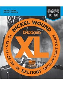D'Addario: EXL110BT Nickel Wound Electric Guitar Strings, Balanced Tension Regular Light, 10-46  | Electric Guitar