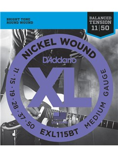 D'Addario: EXL115BT Nickel Wound Medium Balanced Tension Electric Guitar Strings - 11-50  | Elektrisk guitar