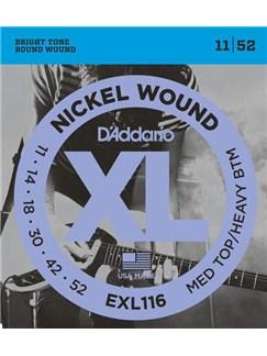 D'Addario: EXL116 Nickel Wound Medium Top/Heavy Bottom Electric Guitar Strings - 11-52  | Electric Guitar