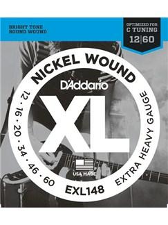 D'Addario: EXL148 Nickel Wound Electric Guitar Strings, Extra-Heavy, 12-60  | Electric Guitar