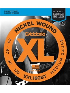 D'Addario: EXL160BT Nickel Wound, Balanced Tension Medium, 50-120  | Bass Guitar