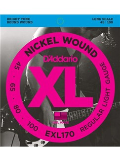 D'Addario EXL170 XL Long Bass Guitar Strings Set  | Bass Guitar