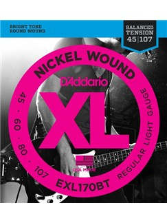 D' Addario: EXL170BT Nickel Wound, Balanced Tension Regular Light, .45-107  | Guitar