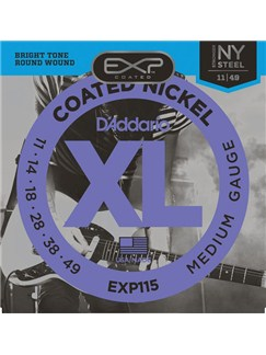 D'Addario: EXP115 Coated Blues Guitar String Set  | Guitar