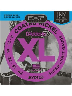 D'Addario: EXP120 Coated Nickel Wound, Super Light, 9-42  | Electric Guitar