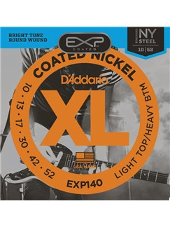 D'Addario: EXP140 Coated Nickel Wound, Light Top/Heavy Bottom, 10-52  | Electric Guitar