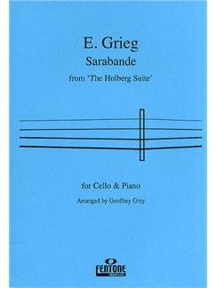 Edvard Grieg: Sarabande For Cello (Holberg Suite) Books | Cello, Piano Accompaniment