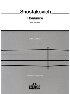 Dmitri Shostakovich: Romance (The Gadfly) (Violin/Piano) Books | Violin, Piano