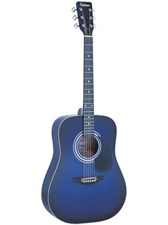 Falcon: FG100 Dreadnought Guitar (Blue) Instruments | Acoustic Guitar