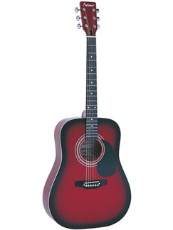 Falcon: FG100 Dreadnought Guitar (Red) Instruments | Acoustic Guitar
