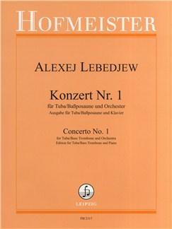 Alexej Lebedjew: Concerto No.1 (Tuba/Piano) Books | Tuba, Piano Accompaniment