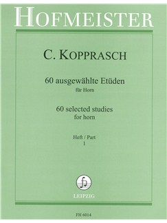 Georg Kopprasch: Sixty Selected Studies For Horn - Part 1 Books | French Horn
