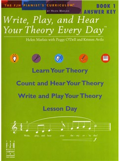 Helen Marlais: Write, Play And Hear Your Theory Every Day - Book 1 (Answer Key) Books and CDs |