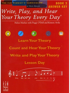 Helen Marlais: Write, Play And Hear Your Theory Every Day - Book 2 (Answer Key) Books |