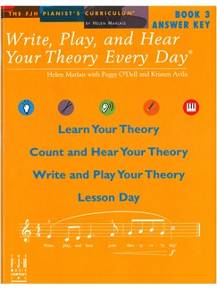 Helen Marlais: Write, Play, And Hear Your Theory Every Day - Book 3 (Answer Key) Books |