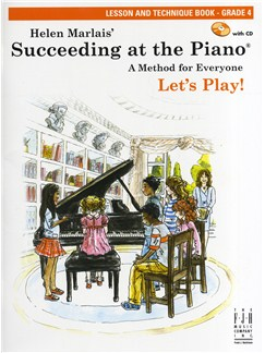 Helen Marlais: Succeeding At The Piano - Grade 4 Lesson And Technique (Book/CD) Books and CDs | Piano