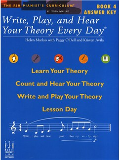 Helen Marlais: Write, Play, And Hear Your Theory Every Day - Book 4 (Answer Key) Books |