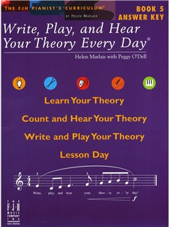 Helen Marlais: Write, Play, And Hear Your Theory Every Day - Book 5 (Answer Key) Books |