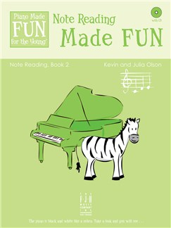Kevin And Julia Olson: Note Reading Made FUN - Book 2 (Book/CD) Books and CDs | Piano