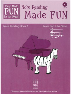 Kevin And Julia Olson: Note Reading Made FUN - Book 3 (Book/CD) Books and CDs | Piano