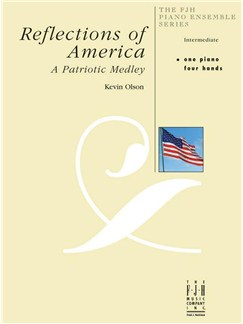 Kevin Olson: Reflections Of America (One Piano, Four Hands) Books | Piano (Duet)