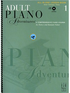 Adult Piano Adventures®: All-In-One Lesson Book 1 (Book/2CDs) Books and CDs | Piano