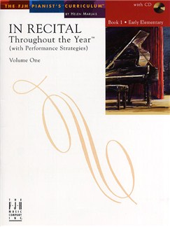 In Recital - Throughout The Year (With Performance Strategies): Volume One - Book 1 Books and CDs | Piano