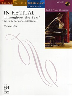 In Recital - Throughout The Year (With Performance Strategies): Volume One - Book 3 Books and CDs | Piano