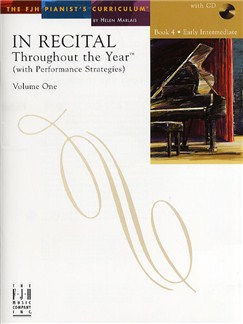 In Recital - Throughout The Year (With Performance Strategies): Volume One - Book 4 Books and CDs | Piano