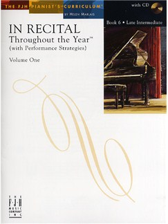 In Recital - Throughout The Year (With Performance Strategies): Volume One - Book 6 Books and CDs | Piano