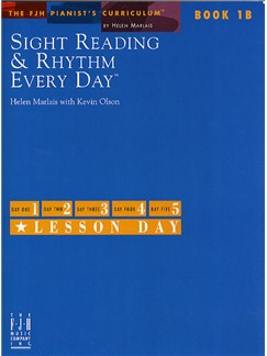 Sight Reading And Rhythm Every Day - Book 1B Books | Piano