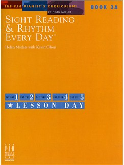 Sight Reading And Rhythm Every Day - Book 3A Books | Piano
