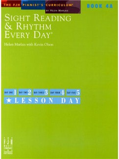 Sight Reading And Rhythm Every Day - Book 4A Books | Piano