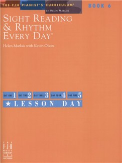 Sight Reading and Rhythm Every Day - Book 6 Books | Piano