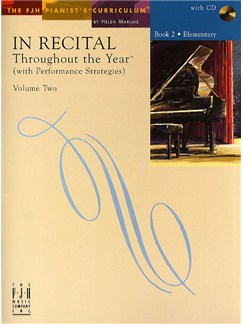In Recital - Throughout The Year (With Performance Strategies): Volume Two - Book 2 Books and CDs | Piano