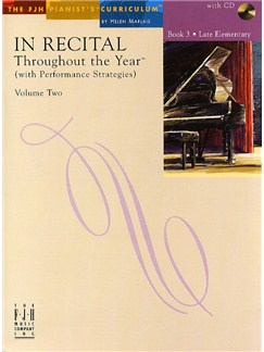 In Recital - Throughout The Year (With Performance Strategies): Volume Two - Book 3 Books and CDs | Piano