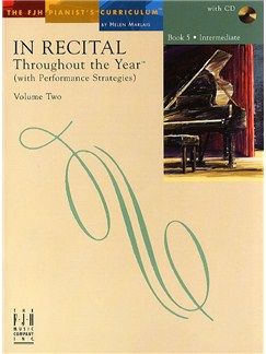 In Recital - Throughout The Year (With Performance Strategies): Volume Two - Book 5 Books and CDs | Piano