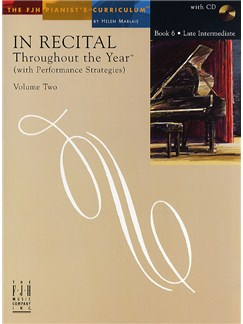 In Recital - Throughout The Year (With Performance Strategies): Volume Two - Book 6 Books and CDs | Piano