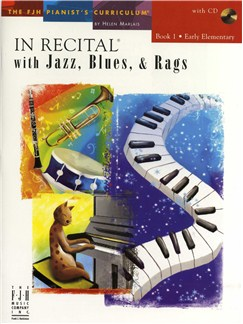 In Recital With Jazz, Blues And Rags - Book One (Book And CD) Books and CDs | Piano