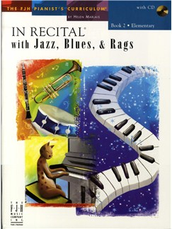 In Recital With Jazz, Blues And Rags - Book Two (Book And CD) Books and CDs | Piano