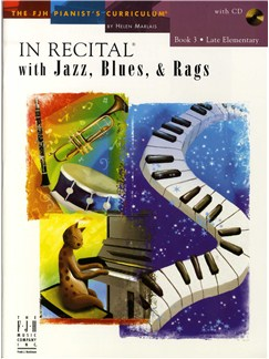 In Recital With Jazz, Blues And Rags - Book Three (Book And CD) Books and CDs | Piano