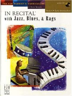 In Recital With Jazz, Blues And Rags - Book Four (Book And CD) Books and CDs | Piano