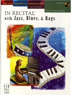 In Recital With Jazz, Blues And Rags - Book Five (Book And CD) Books and CDs | Piano