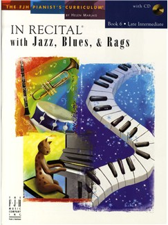 In Recital With Jazz, Blues And Rags - Book Six (Book And CD) Books and CDs | Piano