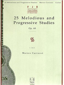 Matteo Carcassi: 25 Melodious And Progressive Studies Op.60 Books | Classical Guitar