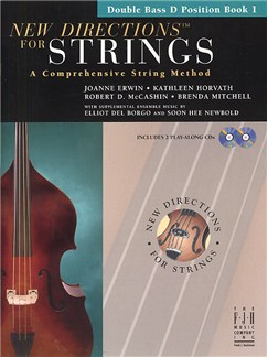 New Directions For Strings: A Comprehensive String Method - Book 1 (Double Bass D Position) Books and CDs | Double Bass