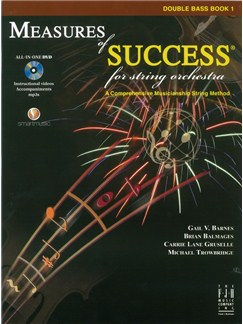 Measures Of Success For String Orchestra: Double Bass - Book 1 (Book/DVD) Books and DVDs / Videos | Double Bass
